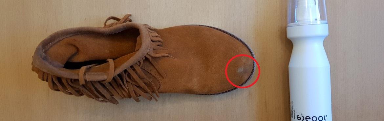 Flecken aus Wildlederschuhen entfernen