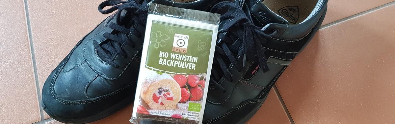 Schuhe putzen mit Backpulver
