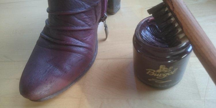Burgol Schuhcreme Anwendung