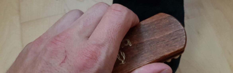 Fettflecken aus Lederschuhen entfernen