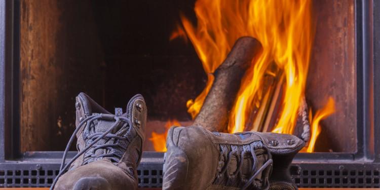 Schuhe trocknen Ofen
