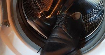 Lederschuhe in die Waschmaschine
