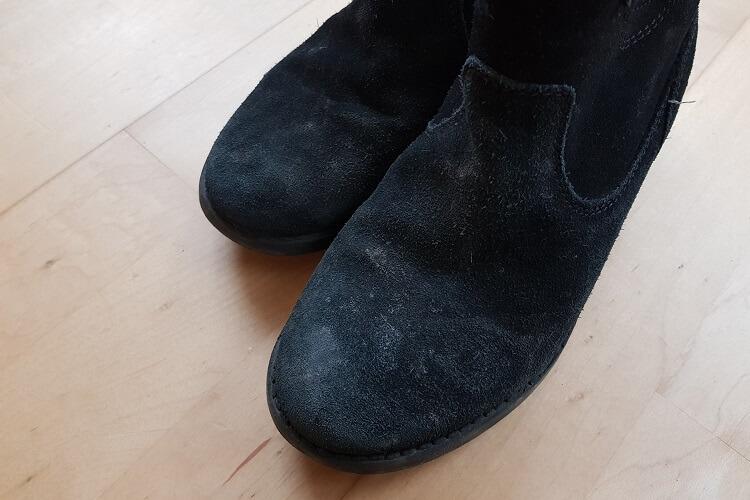 Schuhpflegeset Rauleder Test davor