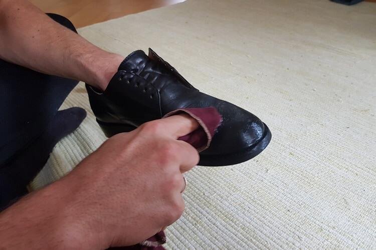 Schuhputzset Glattleder