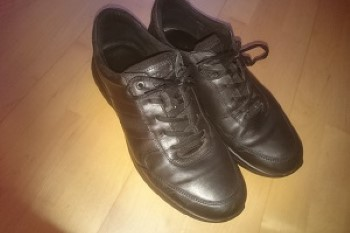 Schuhe nach dem Putzen mit Ledercreme